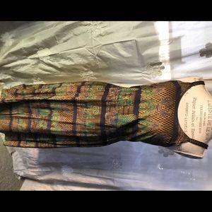 Beautiful Indonesian batik sleeveless midi dress